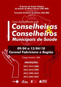 cartaz curso de conselheiras Coronel
